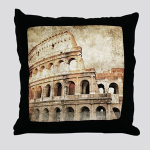 Vintage Roman Coloseum Throw Pillow