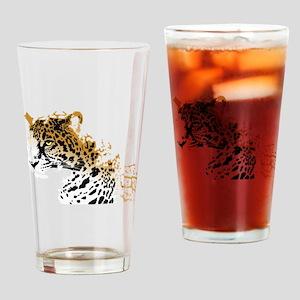 Jaguar Big Cat Drinking Glass