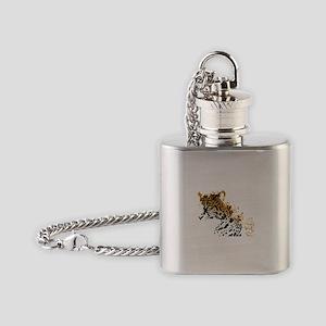 Jaguar Big Cat Flask Necklace