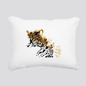 Jaguar Big Cat Rectangular Canvas Pillow