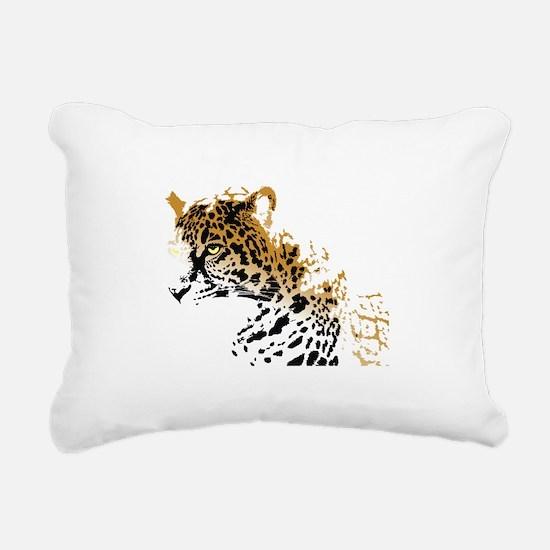 Jaguar Big Cat Rectangular Canvas Pillow