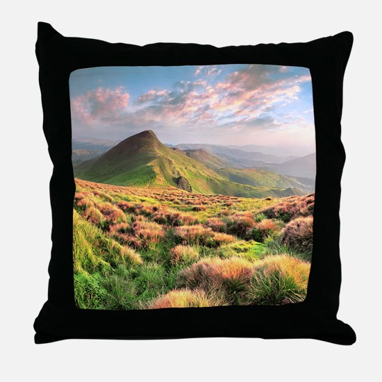Mountain Sunrise Throw Pillow