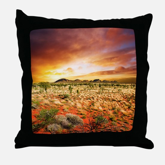 Australian Sunset Throw Pillow