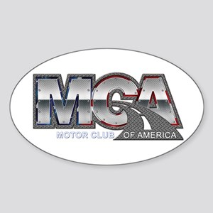 Motor Club Of America Diamond Plated MCA L Sticker