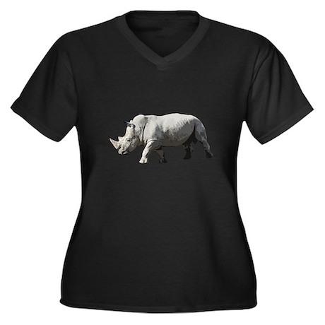 Rhinoceros - Rhino Women's Plus Size V-Neck Dark T