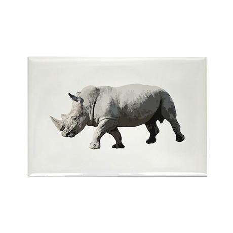 Rhinoceros - Rhino Rectangle Magnet