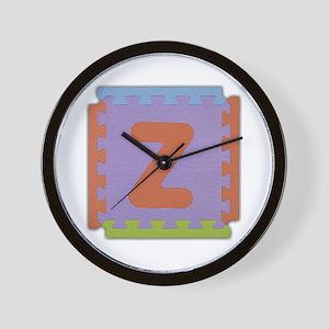 Z Foam Squares Wall Clock