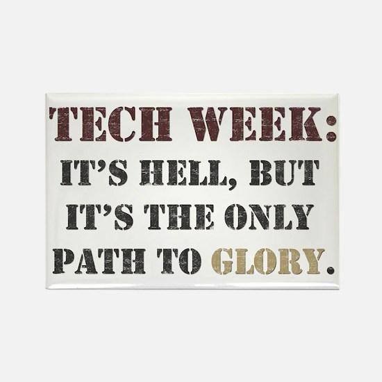 Tech Week Rectangle Magnet