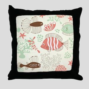 Sea Life Throw Pillow
