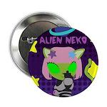 Alien Nekos Middle Finger 2.25&Quot; Button