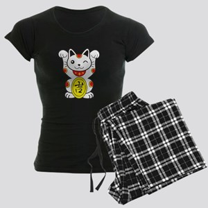 Maneki neko Lucky Cat Women's Dark Pajamas
