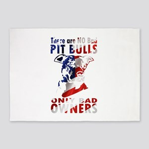 PIT BULL BAD OWNERS 5'x7'Area Rug