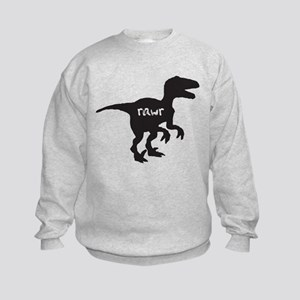 Dinosaur rawr velociraptor Sweatshirt