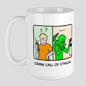 Crank call of cthulhu Large Mug