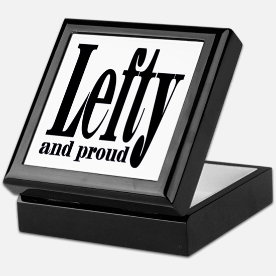Lefty and Proud Keepsake Box