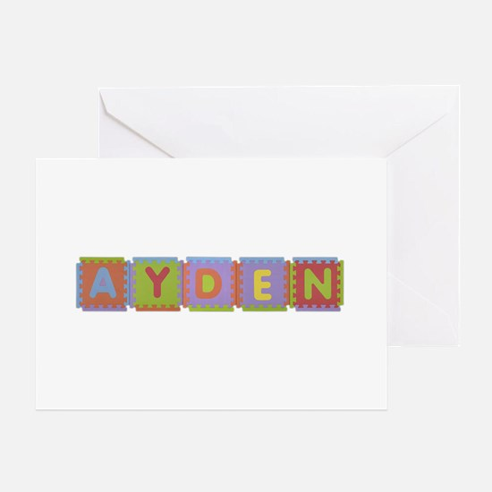 Ayden Foam Squares Greeting Card