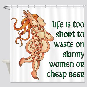 Goddess Motto Shower Curtain