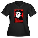 Viva la Reformacion! Women's Plus Size V-Neck Dark