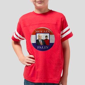 mccainPALIN BOTTON bigger Youth Football Shirt