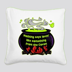 Lovin Coven Square Canvas Pillow