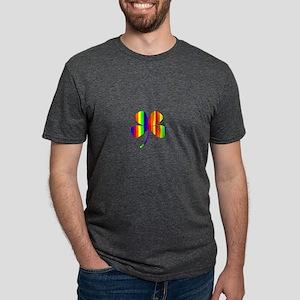 4 Leaf Clover Rainbow Pot O Mens Tri-blend T-Shirt