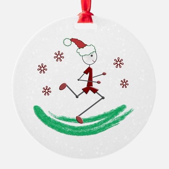 Holiday Runner Guy Ornament
