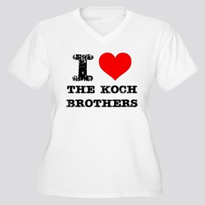 I Love The Koch Brothers Plus Size T-Shirt