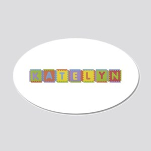 Katelyn Foam Squares 20x12 Oval Wall Decal