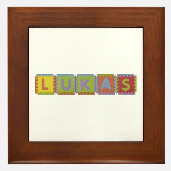 Lukas Foam Squares Framed Tile