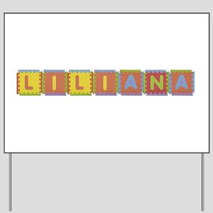 Liliana Foam Squares Yard Sign