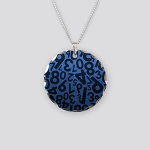 Blue Numbers Pattern Necklace