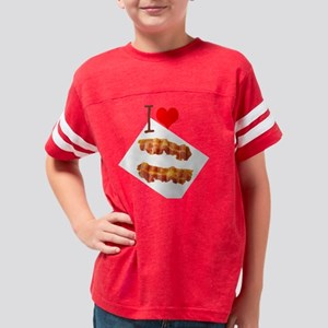 I Love Bacon Youth Football Shirt