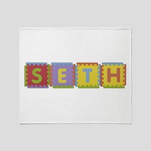Seth Foam Squares Throw Blanket