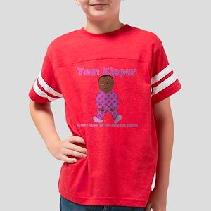 Yom Kippur Pink PJs Sorry Dar Youth Football Shirt