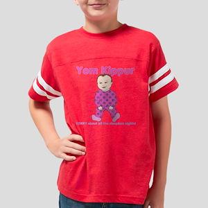 Yom Kippur Pink PJs Sorry Youth Football Shirt