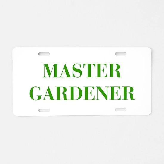 MASTER-GARDENER-BOD-GREEN Aluminum License Plate
