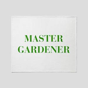 MASTER-GARDENER-BOD-GREEN Throw Blanket