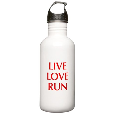 LIVE-LOVE-RUN-OPT-RED Water Bottle
