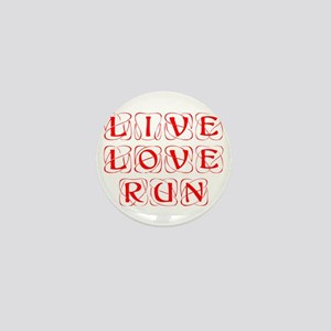 LIVE-LOVE-RUN-KON-RED Mini Button