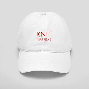 knit-happens-OPT-RED Baseball Cap