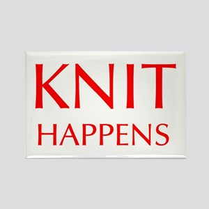 knit-happens-OPT-RED Rectangle Magnet