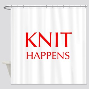 knit-happens-OPT-RED Shower Curtain
