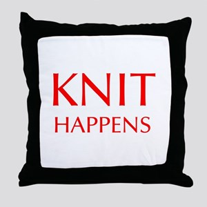 knit-happens-OPT-RED Throw Pillow