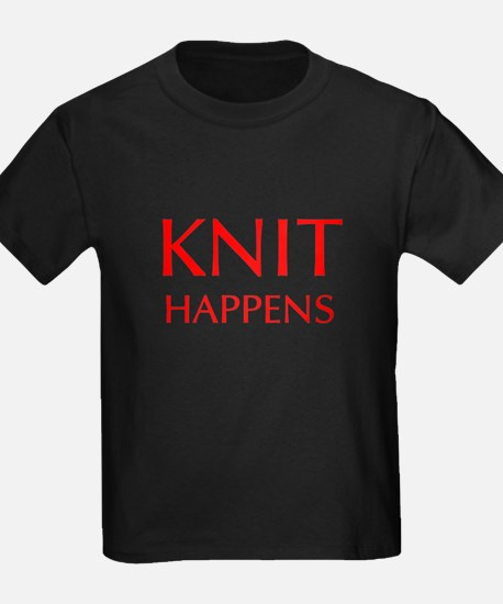 knit-happens-OPT-RED T-Shirt