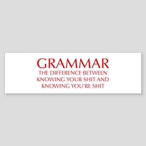 grammar-difference-OPT-RED Bumper Sticker