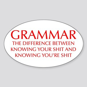 grammar-difference-OPT-RED Sticker