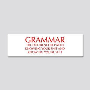 grammar-difference-OPT-RED Car Magnet 10 x 3