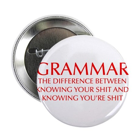 "grammar-difference-OPT-RED 2.25"" Button (10 pack)"