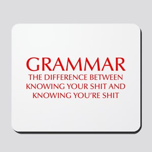 grammar-difference-OPT-RED Mousepad