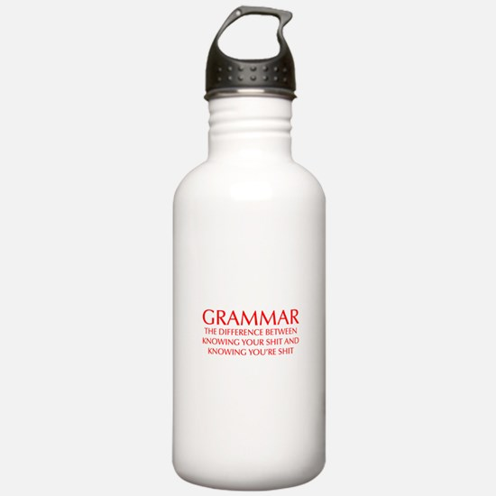 grammar-difference-OPT-RED Water Bottle